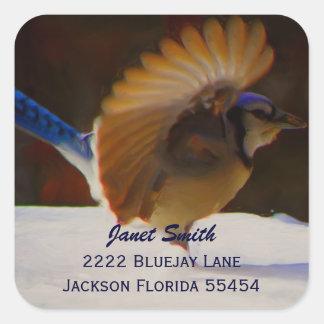 Blue Jay  Address Sticker