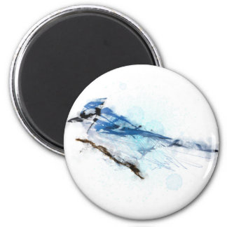 Blue Jay Bird - Blue Jay 2 Inch Round Magnet