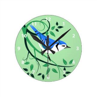 Blue Jay BIrd Clocks