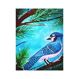 Blue jay canvas