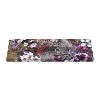 Blue Jay Cherry Blossom Canvas Print