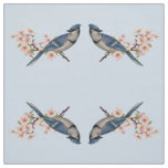 Blue Jay & Cherry Blossom Fabric