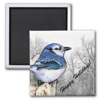 Blue Jay Drawing Magnet