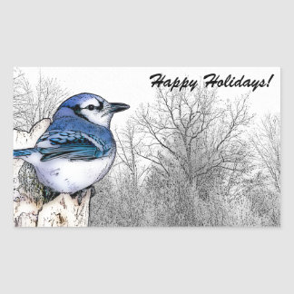 Blue Jay Drawing Stickers