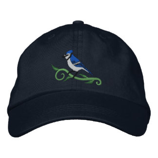 Blue Jay Embroidered Hat