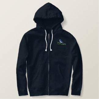 Blue Jay Embroidered Zip Hoodie