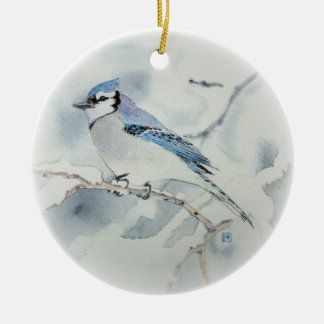 Blue Jay Holiday Ornament