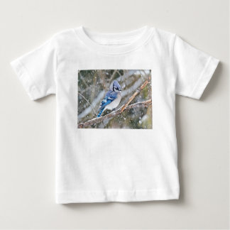Blue Jay in a Snowstorm Baby T-Shirt