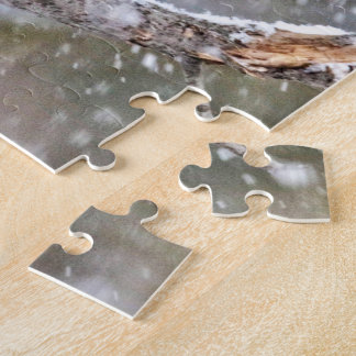 Blue Jay in a Snowstorm Jigsaw Puzzle