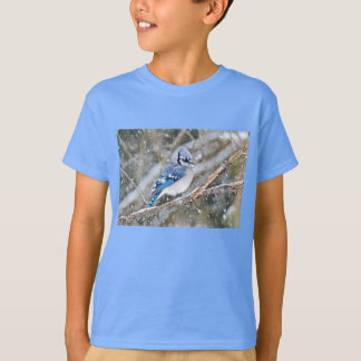Blue Jay in a Snowstorm T-Shirt