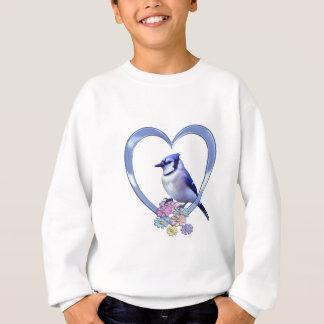 Blue Jay in Heart Sweatshirt