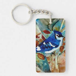 Blue Jay in the Tree Keychain
