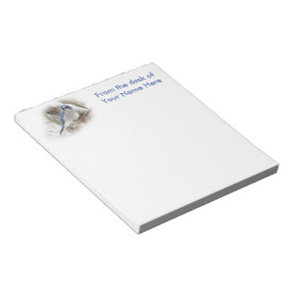 Blue Jay in Winter Snow Notepad