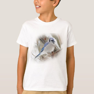 Blue Jay in Winter Snow T-Shirt