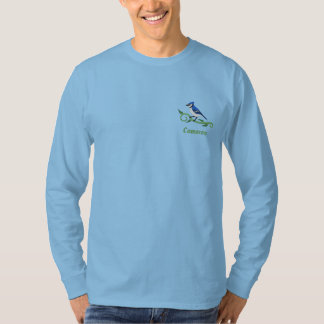 Blue Jay Name Embroidered Long Sleeve T-Shirt