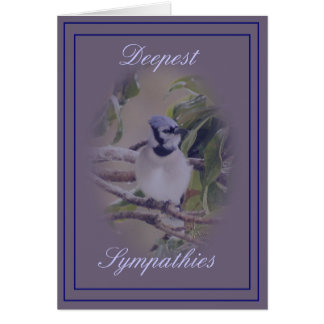 Blue Jay on  lavendar- customize any occasion Card