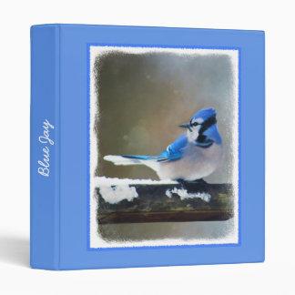 Blue Jay Painting - Original Bird Art Binder