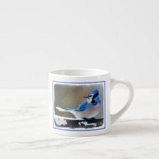Blue Jay Painting - Original Bird Art Espresso Cup