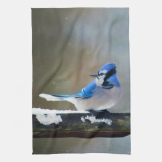 Blue Jay Painting - Original Bird Art Kitchen Towel