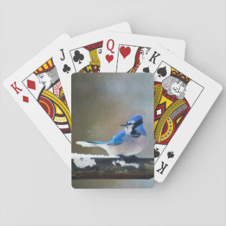 Blue Jay Painting - Original Bird Art Playing Cards