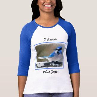 Blue Jay Painting - Original Bird Art T-Shirt