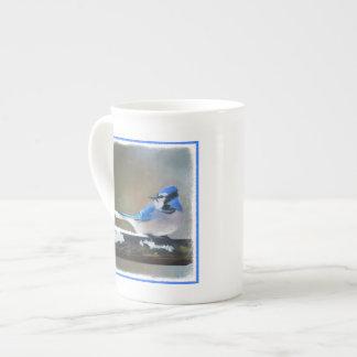 Blue Jay Painting - Original Bird Art Tea Cup