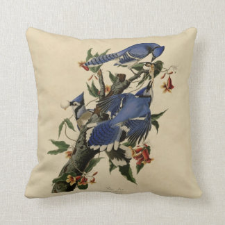 Blue Jay Painting Pillow