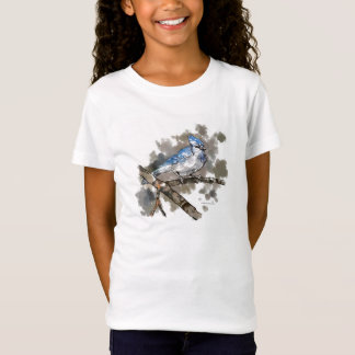 Blue Jay Perched on a Branch T-Shirt #2