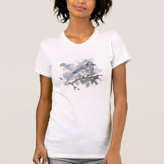 Blue Jay Perched on a Branch TShirt #3