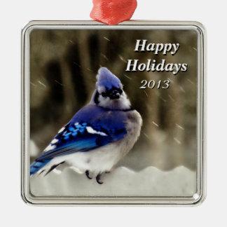 Blue Jay Photo Metal Ornament