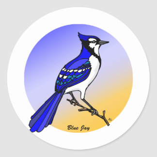 Blue Jay rev.2.0 Keychains and Magnets Round Sticker