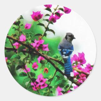 Blue Jay Round Sticker