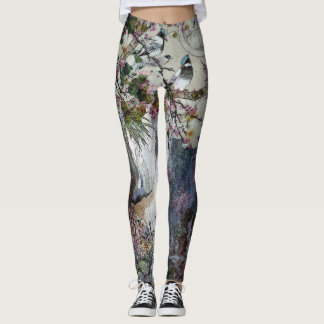 Blue Jay Serenades Spring Leggings