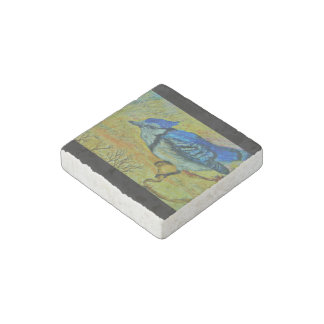 Blue Jay Stone Magnets