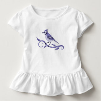 Blue Jay Toddler Ruffle T-Shirt