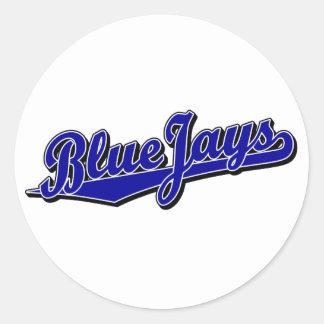 Blue Jays in Blue Classic Round Sticker