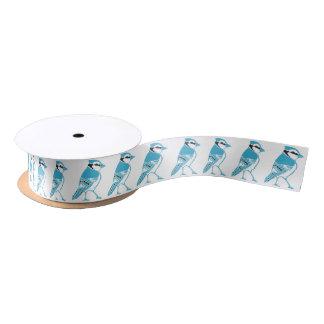 Blue Jays Pattern Satin Ribbon