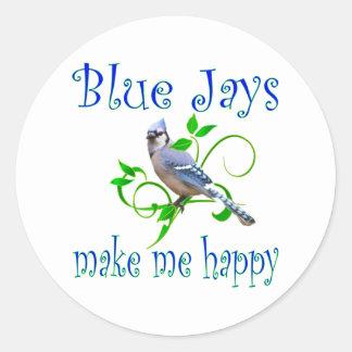 Blue Jays Round Sticker