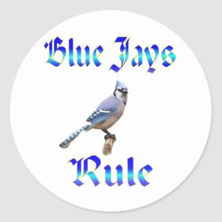 Blue Jays Rule Classic Round Sticker