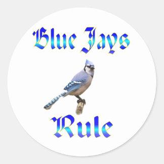 Blue Jays Rule Round Sticker