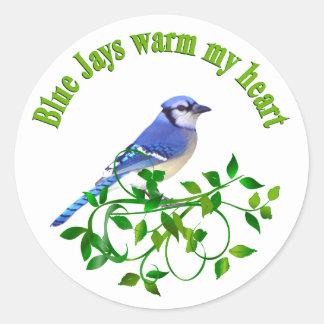 Blue Jays warm my Heart Classic Round Sticker
