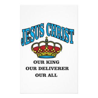 blue jc king deliverer all stationery design