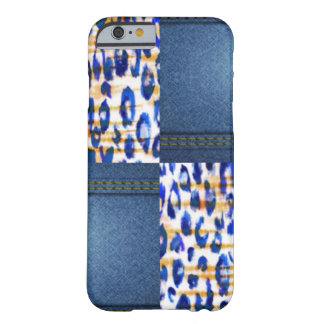 Blue Jean Animal Pattern Print Design Barely There iPhone 6 Case