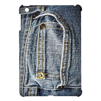 Blue Jean Denim Pocket iPad Mini Covers