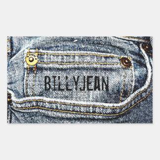 Blue Jean Denim Pocket - Personalize it! Sticker