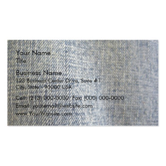 Blue Jean Fabric Texture Business Card Template