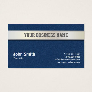 Blue Jeans and Silver Belt business card