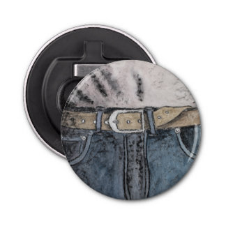 Blue jeans bottle opener