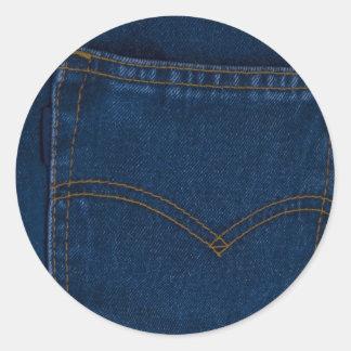 blue jeans classic round sticker