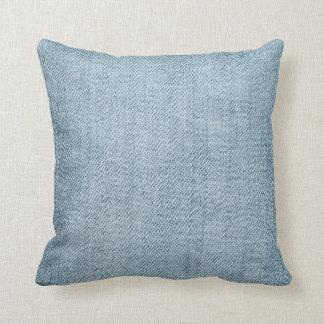 Blue Jeans Denim Look Faux Texture Photo Throw Pillow